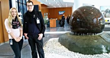 Muriel Wissemeier und Christoph Jäger bei SAP