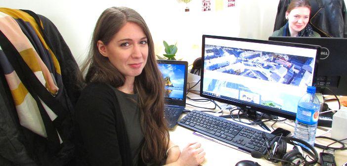 Katharina absolviert ein Praktikum in Paris