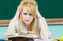 Angst vor der Prüfung kann zum Blackout führen