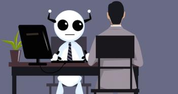 Bewerbungsgespräch mit einem Roboter