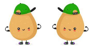 Muskulöse Kartoffeln: das ist wahre Stärke
