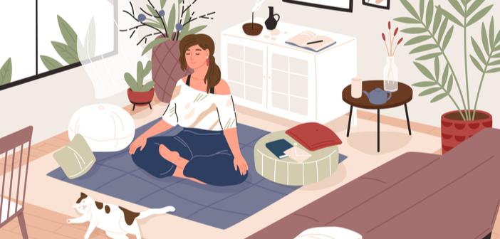 Meditieren kann man auch Zuhause
